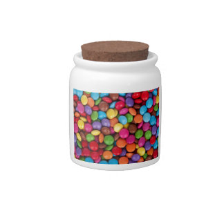 cool multi coloured chocolate buttons candy jar