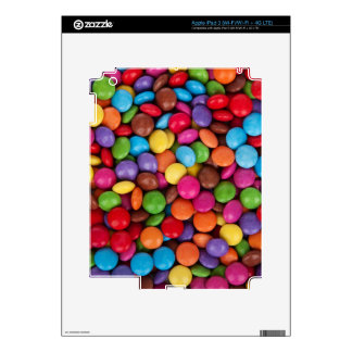 cool multi coloured chocolate buttons skins for iPad 3