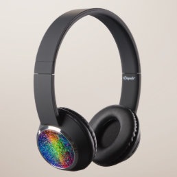 Cool Multicolor Retro Glitter & Sparkles Pattern 2 Headphones