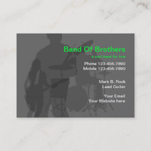 Band business cards zazzle cool music band business cards reheart Image collections