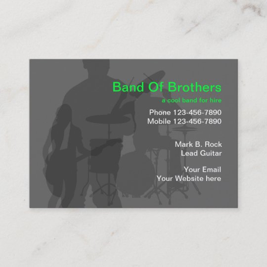 cool music band business cards - Band Business Cards