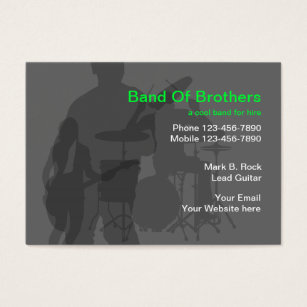 Band business cards yelomdiffusion band business cards templates zazzle fbccfo Images