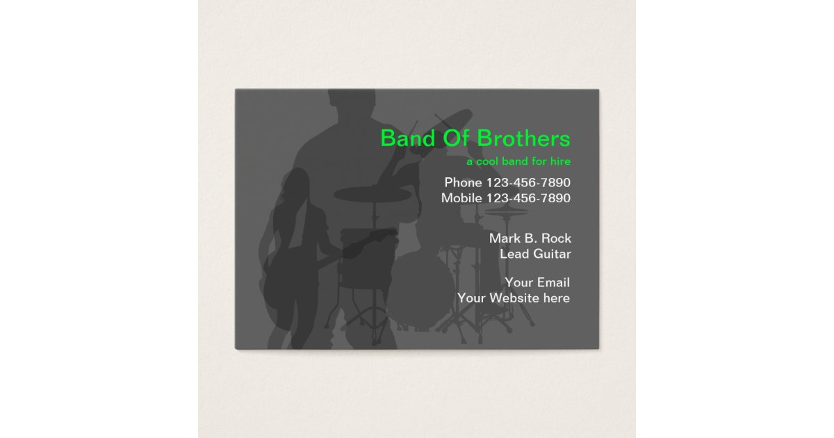 Cool Music Band Business Cards | Zazzle.com