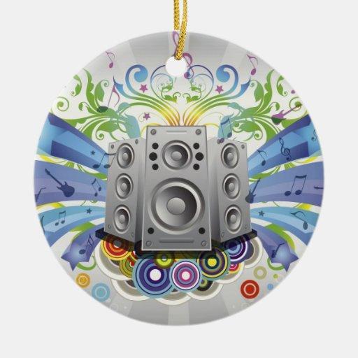 Cool Music Christmas Ornament
