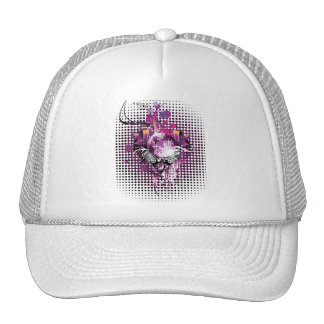 Cool Music Disco Ball and Speakers Trucker Hat