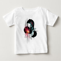 Cool Music Graphic with Guitar Baby T-Shirt