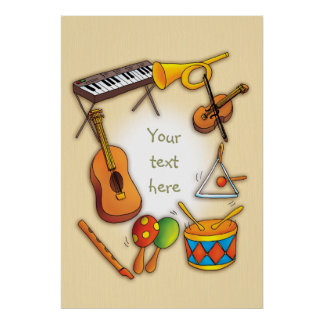 Cool Music Instruments Poster