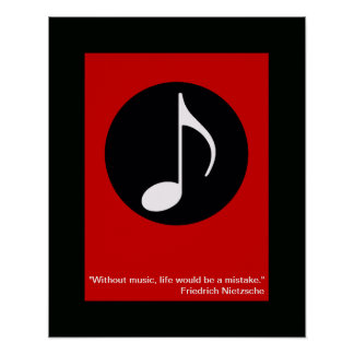 cool music note print for wall
