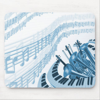 Cool Music Notes Mouse Pad