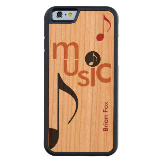 cool music-themed carved® cherry iPhone 6 bumper case