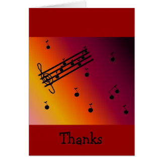 Cool Musical Thank You Card