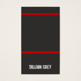 Cool Musician Black and Red Business Card