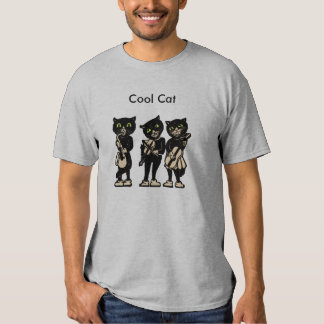 Cool Musician Black Vintage Cats T Shirt