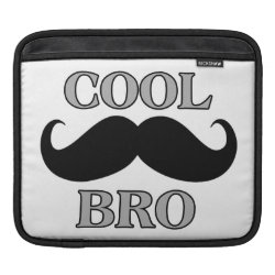 iPad Sleeve with Cool Mustache Bro design