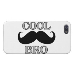Case Savvy iPhone 5 Matte Finish Case with Cool Mustache Bro design