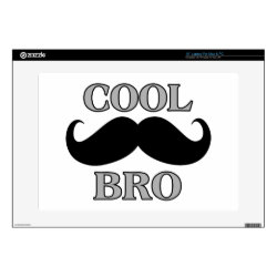 17' Laptop Skin for Mac & PC with Cool Mustache Bro design