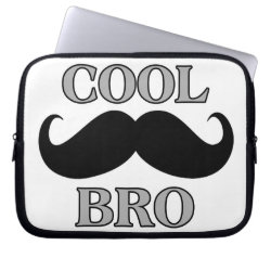 Neoprene Laptop Sleeve 10 inch with Cool Mustache Bro design