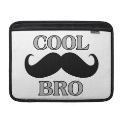 Macbook Air Sleeve with Cool Mustache Bro design