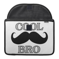 Macbook Pro 13' Flap Sleeve with Cool Mustache Bro design