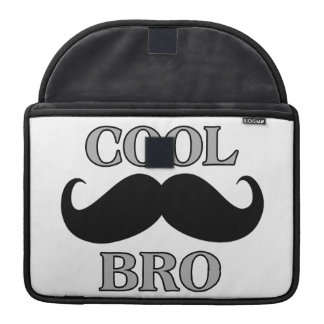 Cool Mustache Bro MacBook Pro Sleeve