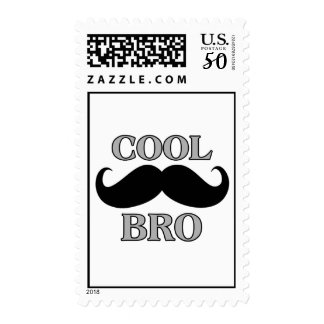 Cool Mustache Bro Postage