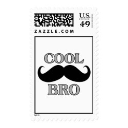 Medium Stamp 2.1' x 1.3' with Cool Mustache Bro design