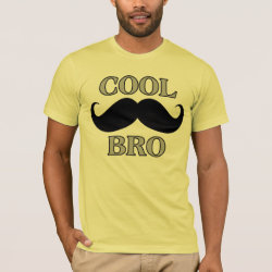 Men's Basic American Apparel T-Shirt with Cool Mustache Bro design