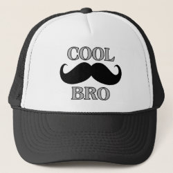 Trucker Hat with Cool Mustache Bro design