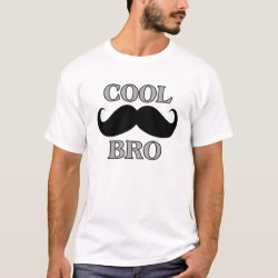 Men's Basic T-Shirt with Cool Mustache Bro design