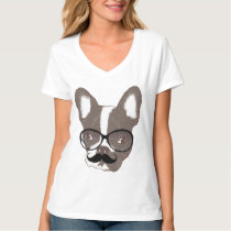 Cool Mustache French Bulldog T-Shirt