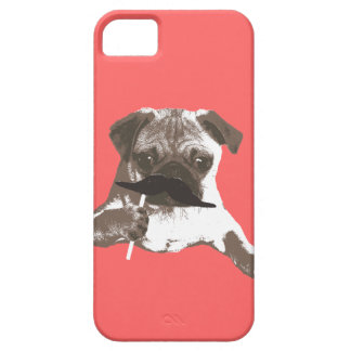 Cool Mustache Pug iPhone 5 Case