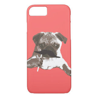 Cool Mustache Pug iPhone 7 case