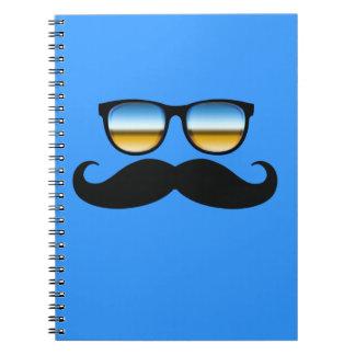 Cool Mustache under Shades Notebook
