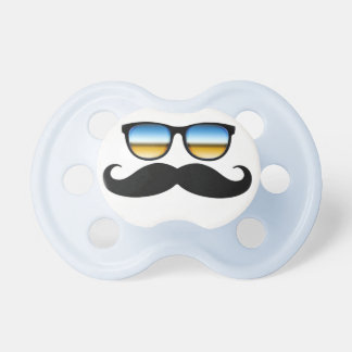 Cool Mustache under Shades Pacifier