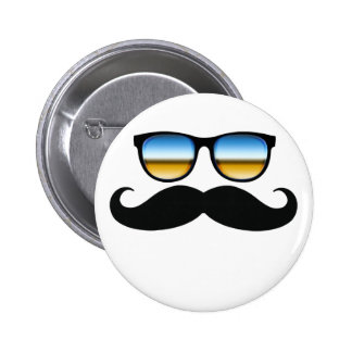 Cool Mustache under Shades Pinback Button