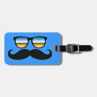 Cool Mustache under Shades Travel Bag Tag