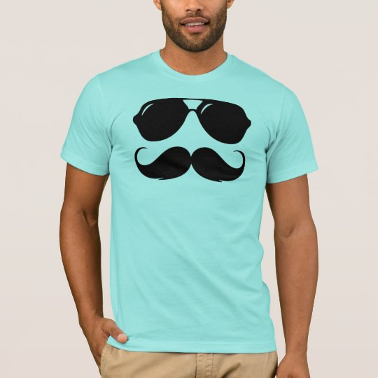 Cool Mustache with Shades T-Shirt