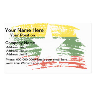 Cool Myanmarese flag design Double-Sided Standard Business Cards (Pack Of 100)