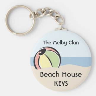 Cool 'N Colorful Beach Ball Keychain