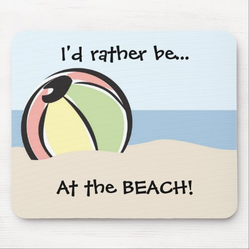 Cool 'N Colorful Beach Ball Mouse Pads