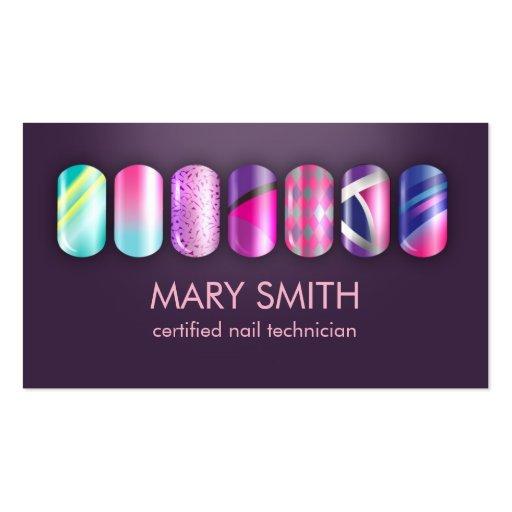 Cool Nail Tech & Manicurist Business Card Template