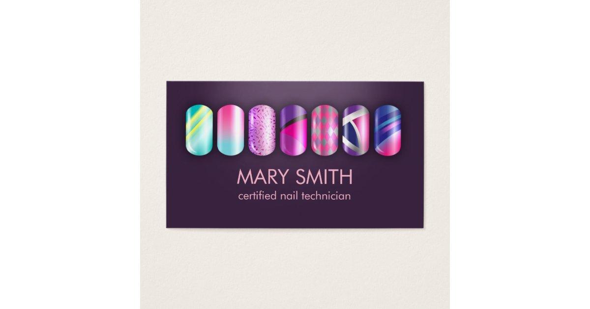 Acrylic Nails Business Cards & Templates | Zazzle