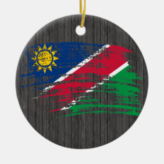 Cool Namibian flag design Double-Sided Ceramic Round Christmas Ornament