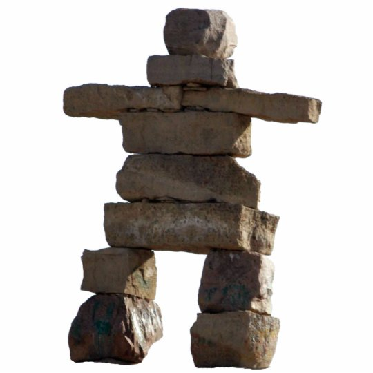 Cool Native American Inukshuk 2 Sculpted Gift Statuette