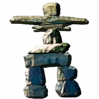 Cool Native American Inukshuk 3 Sculpted Gift Photo Sculpture Keychain