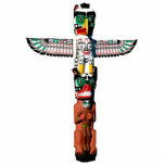 """Cool Native American Totem Pole 4 Sculpted Magnet<br><div class=""""desc"""">A mystical Native American Symbol representing a carved Totem Pole makes a brilliant 3D Magnet for American &amp; Haida cultures!   25% of royalties from each sale made,  is donated to Defenders of Wildlife at: www.defenders.org</div>"""