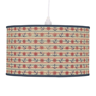 Cool nautical anchors and boat steering wheels ceiling lamp