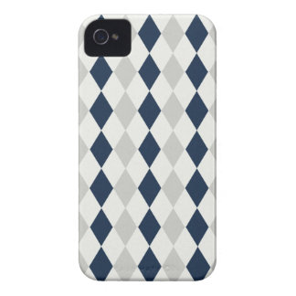 Cool Navy Blue and Gray Argyle Diamond Pattern iPhone 4 Cover