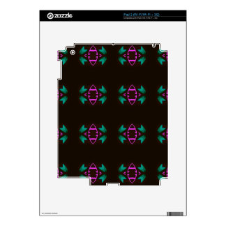 Cool Neon Fushia Teal Graphic Art Pattern Skins For The iPad 2