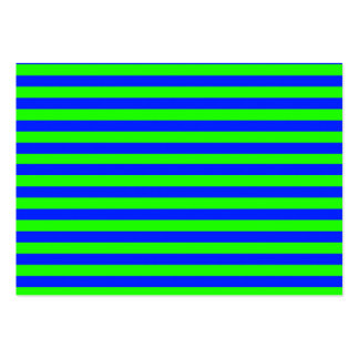 Cool Neon Green And Blue Stripes Business Cards